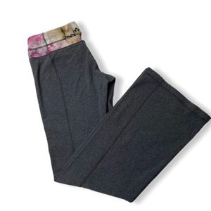 Lululemon groove pant gray water color band size 8